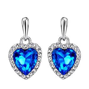 830474984f34 Aretes Oro Blanco Y Piedra Azul - Joyería en Mercado Libre México