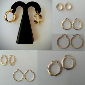 03093d58f931 Arrcadas Chapa De Oro De 22 Kilates Garantizadas - Aretes en Mercado ...