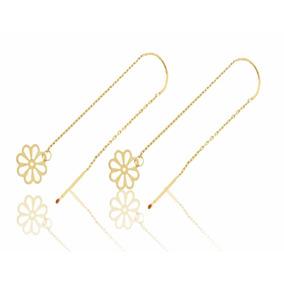 a7d90332568e Aretes Violadores De Flor Con 8 Pétalos Oro 14 K + Obsequio