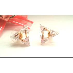 10c853594f37 Aretes De Triangulo Sin Piedras - Aretes Oro en Mercado Libre México