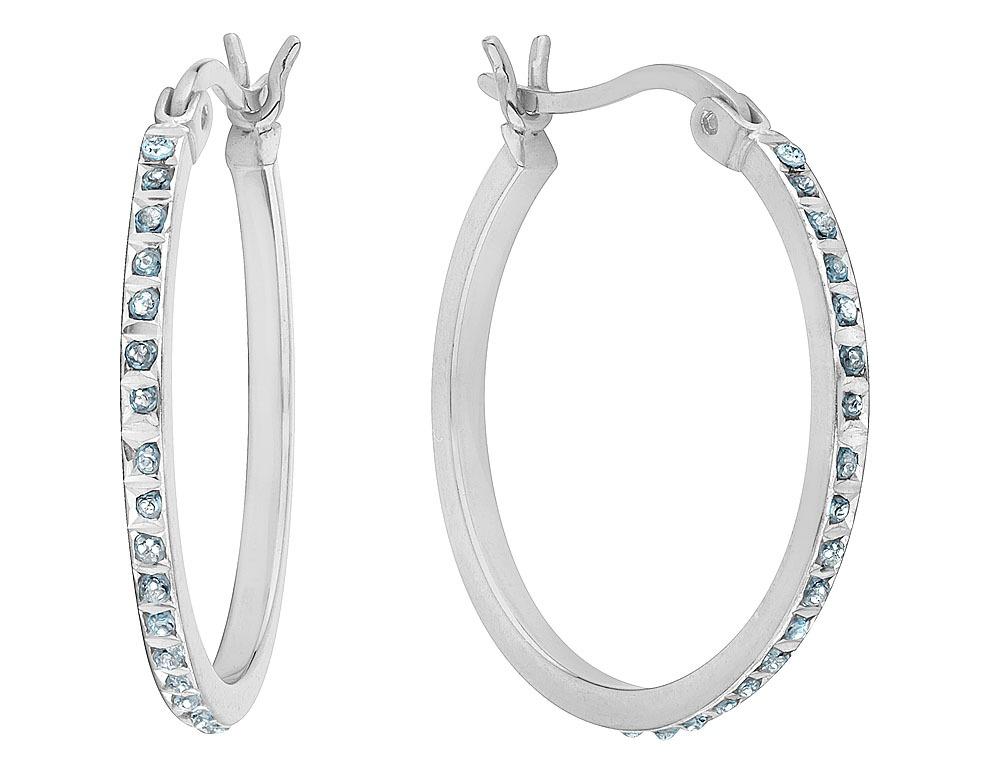 5b5e2e802d85 Cargando zoom... aretes argolla con diamantes en plata ...
