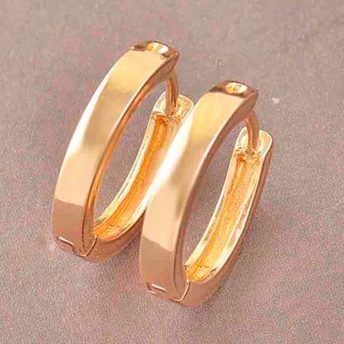aretes aros oro laminado de 9k