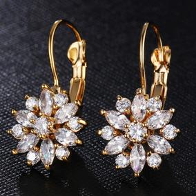 34be838dab1f Gargantilla Y Aretes Grande Flor Cristal Austriaco Dif Colo · Aretes  Arracada Flor Cristal Austriaco Envío Gratis