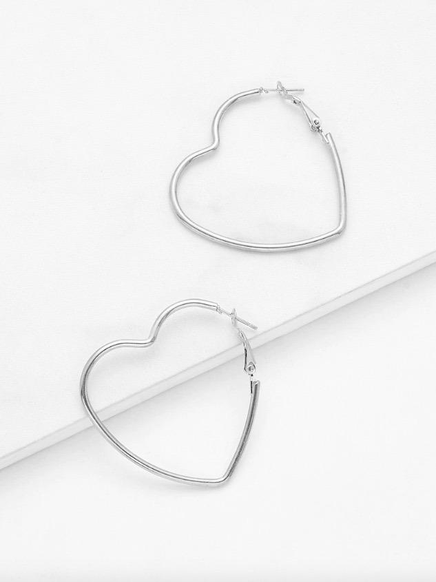 código promocional 048e4 c83e6 Aretes Arracadas Corazón Pendientes Bisutería Mujer Moda