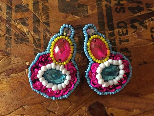 aretes artesanales de moda mayoreo y menudeo!!