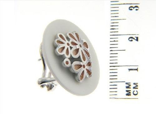 aretes bouquet rosa de plata (27714)
