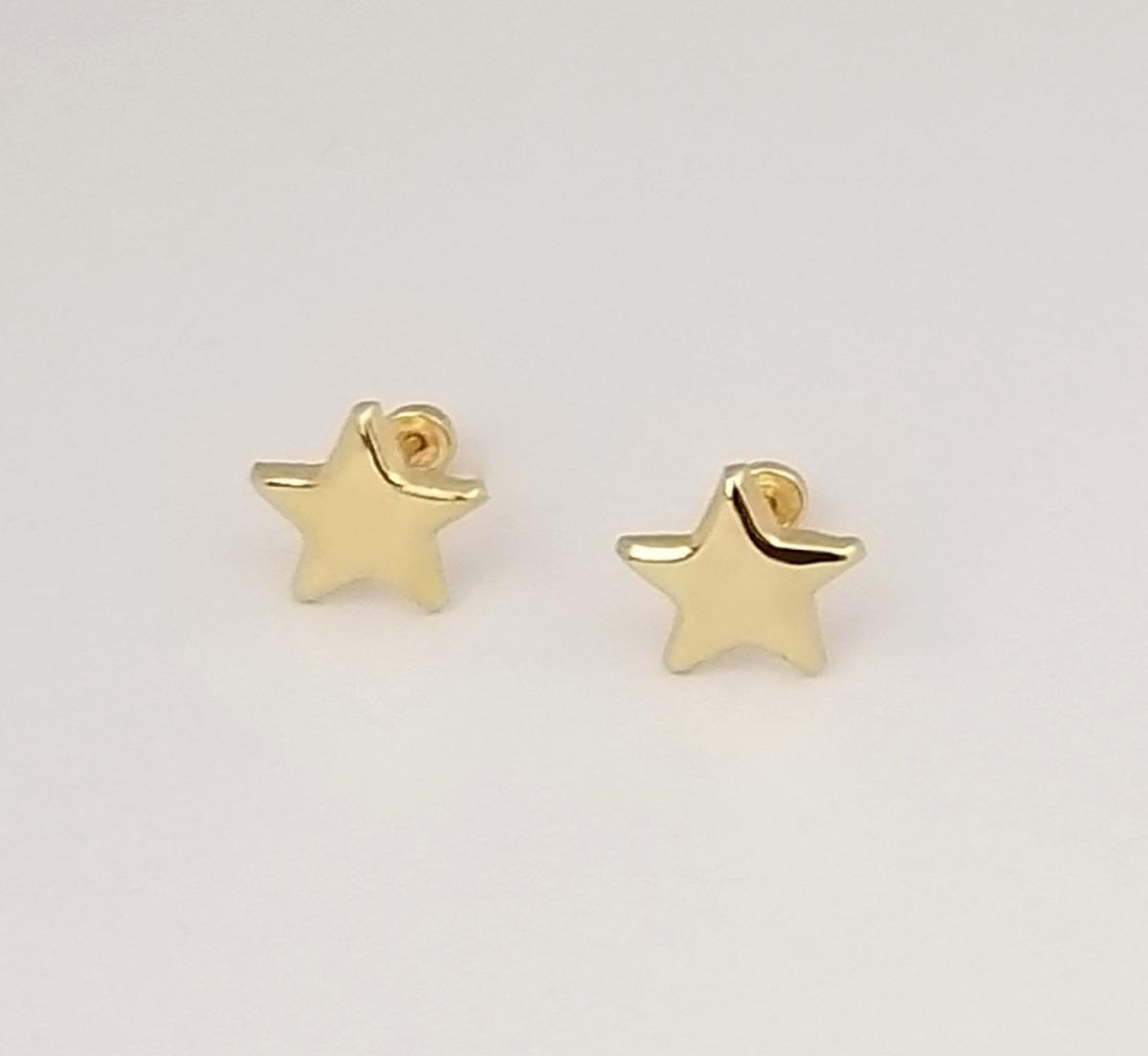 51c575356ab5 Aretes Broquel De Estrella Para Mujer Oro Sólido 10k -   495.00 en ...