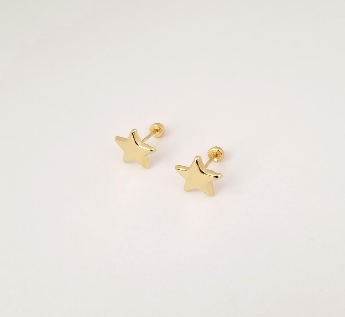 9e9df2995f91 Aretes Broquel De Estrella Para Mujer Oro Sólido 10k -   495.00 en ...