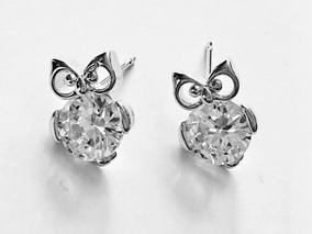 tienda de liquidación d98b2 6a28a Aretes Buho Baño Oro Blanco Zirconia Calidad Diamante