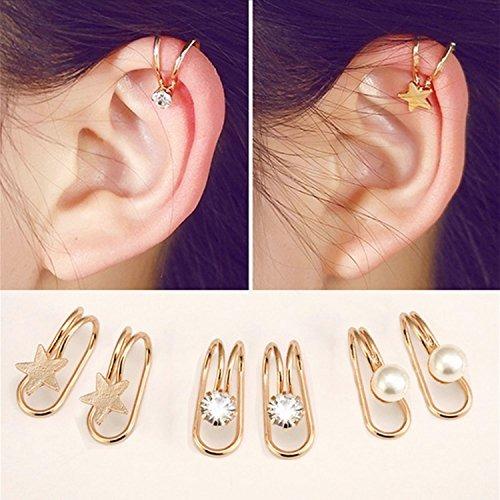 Aretes Casfine Clip Oreja De Cartilago Para Mujer 94533 En