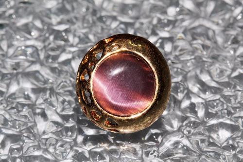 aretes casuales bisuteria dorado grabados centro rosa ar794