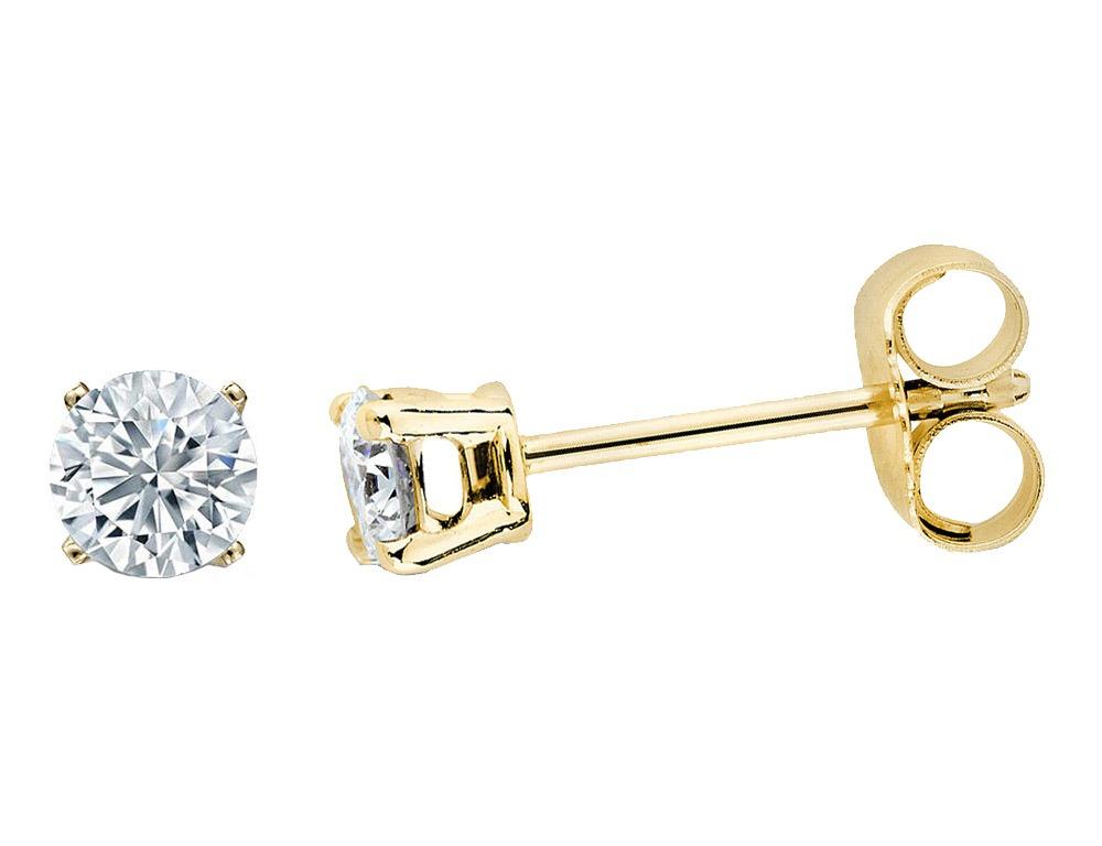 b843a1cf8d1f Aretes C diamante Solitario De 1 5 Quilate En Plata Fina oro ...