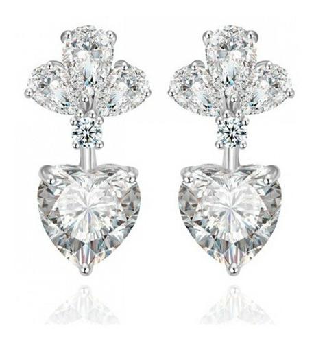 aretes con cristales, ocean heart oh15-317