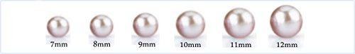 aretes cultivados de agua dulce de 8 mm y crystal johnson