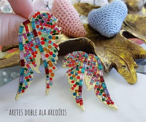 aretes de ala multicolor ¿¿¿¿  las alas de los ángeles