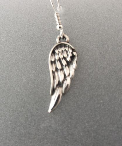 aretes de alas de angel en plata 0.925 ley