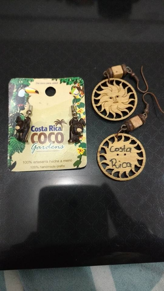 17728d2e1128 Aretes De Coco Y Madera (costa Rica) -   300.00 en Mercado Libre
