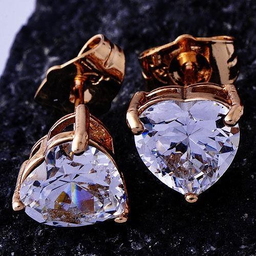 aretes de corazón  de oro laminado de 14k  envío gratis
