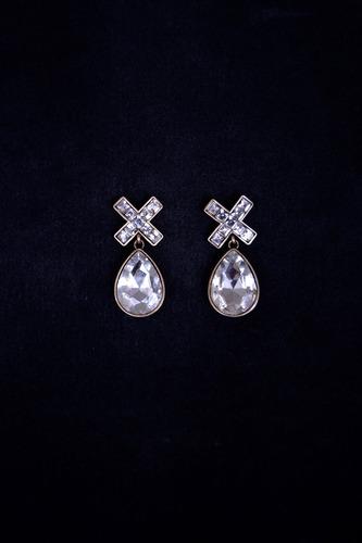 aretes de cristal gota y x