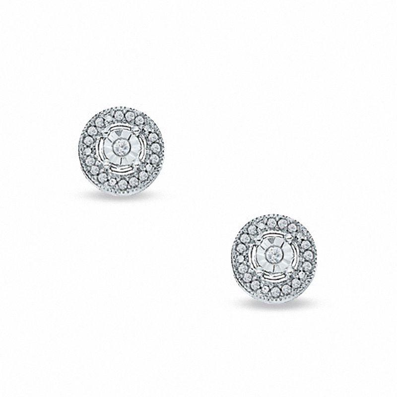 ac17de7d54de aretes de diamantes redondos en plata esterlin. Cargando zoom.