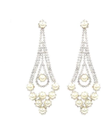 aretes de fiesta con perlas