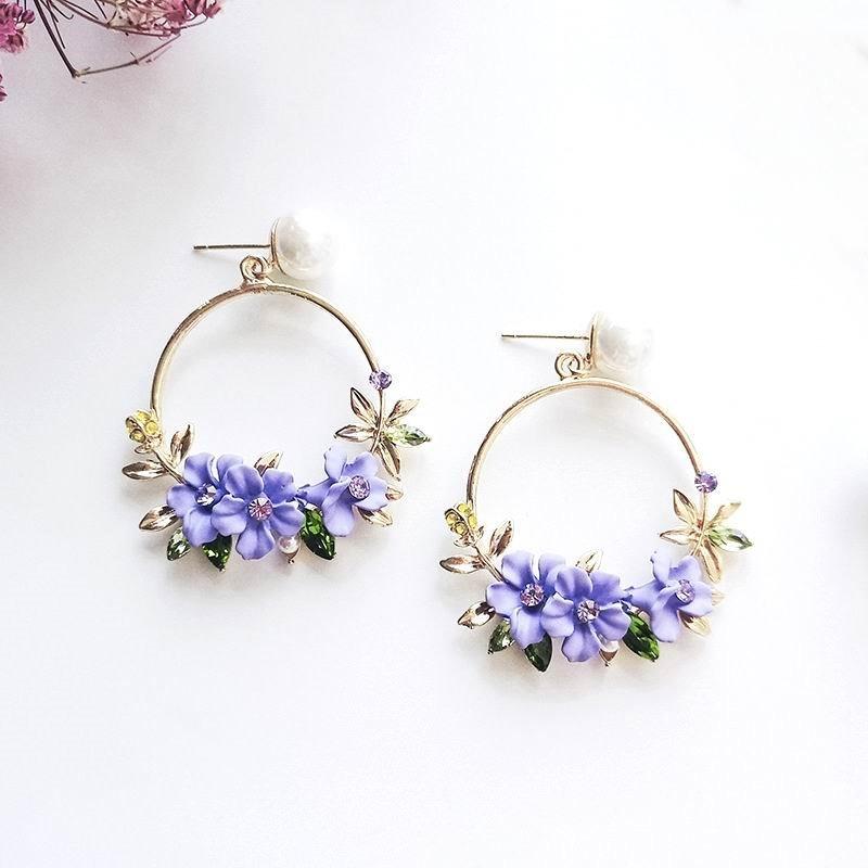 ofertas exclusivas calidad diseño de calidad Aretes De Flores Juveniles Accesorios Moda Con Flores - S/ 25,00 ...