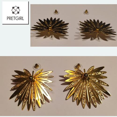 aretes de hojas / wings / mujer / bronce / grandes / regalo