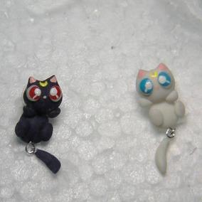 venta minorista 6b5bf 6bc1c Aretes De Luna Y Artemis Sailor Moon En Porcelana Fría