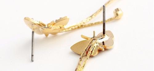 aretes de mariposa swarovski pendientes + regalo