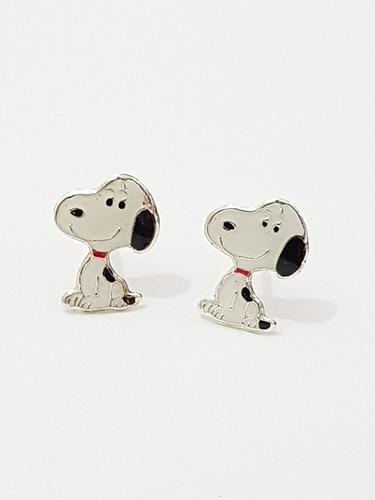 aretes de perrito blanco de plata y envio gratis