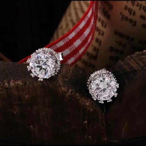 aretes de plata .925 diamante ruso regalo moda mujer bonitos