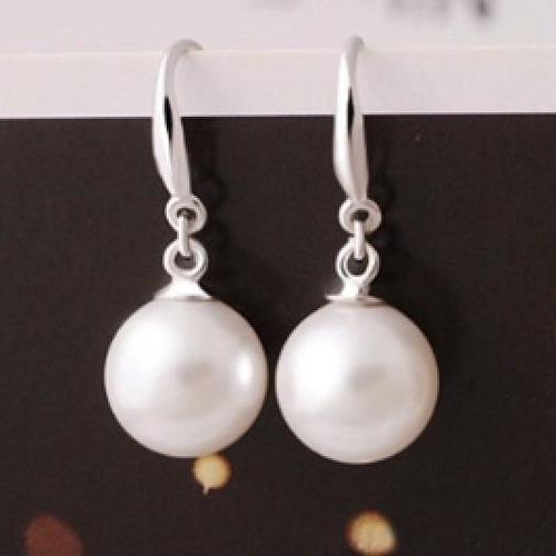 aretes de plata .925 perla de mallorca pendientes mayoreo