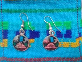 cc829dbbfd93 Aretes Plata Mexicana De Diseño Artesanal Con Pedrería - Aretes en ...