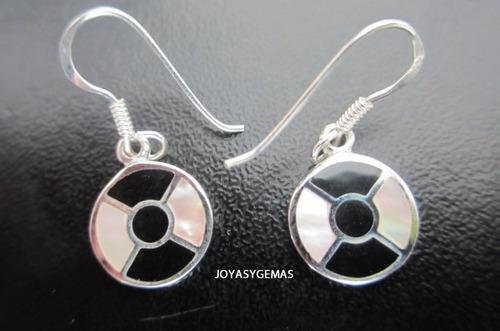 aretes de plata y madre perla s/.30 - joyasygemas