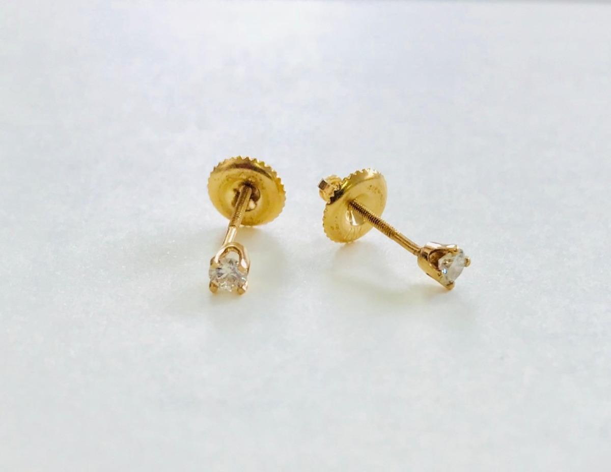 ad8384064894 aretes diamantes bebe niña dama oro amarillo 14k regalo. Cargando zoom.