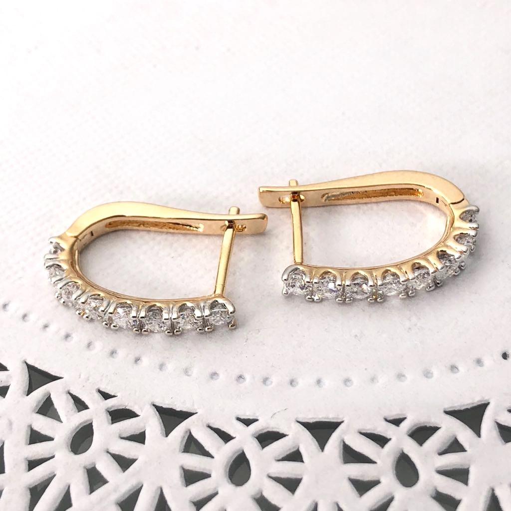 60c49c1faa72 Aretes Diamantes Oro Laminado 14k. Calidad. Joyería -   199.00 en ...