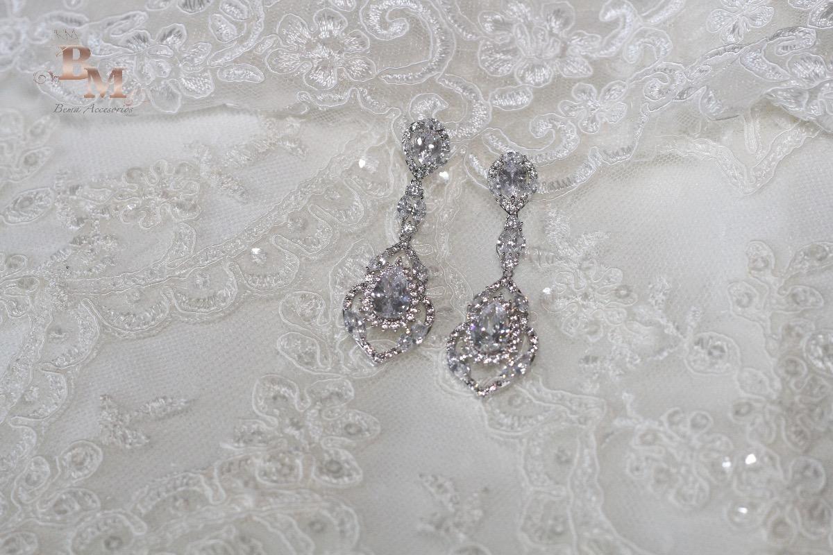 encanto de costo moderno y elegante en moda muy genial Aretes Elegantes De Gala Largos Para Novias