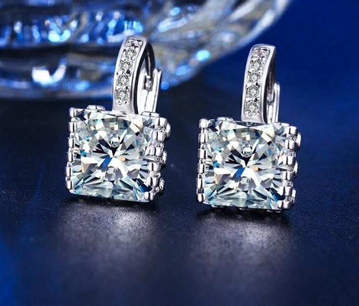 Aretes Elegantes Oro Lam 24kgp Regalo Swarovski - $ 658.80 ...