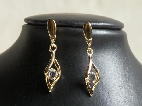 aretes en gold filled para mujer - oro golfi #357