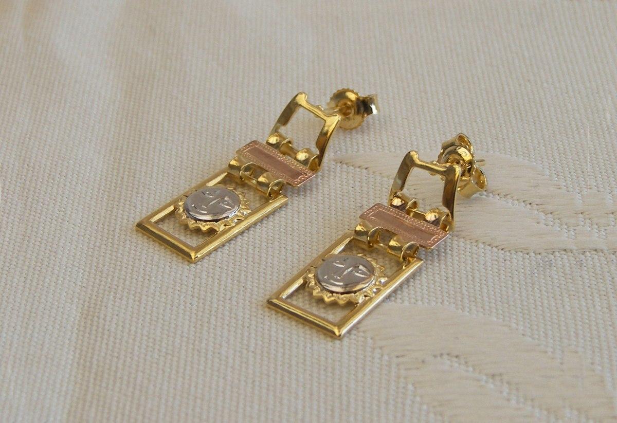 Aretes En Gold Filled Para Mujer - Oro Golfi #500 - $ 10 ...