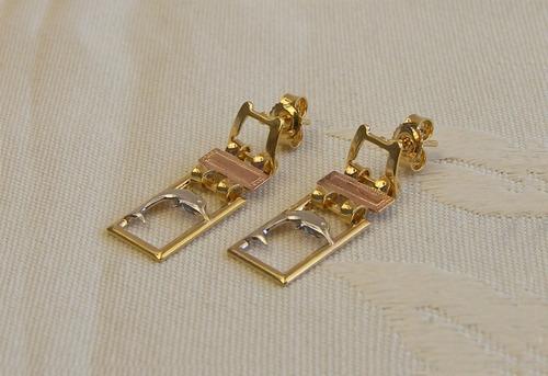 aretes en gold filled para mujer - oro golfi #500