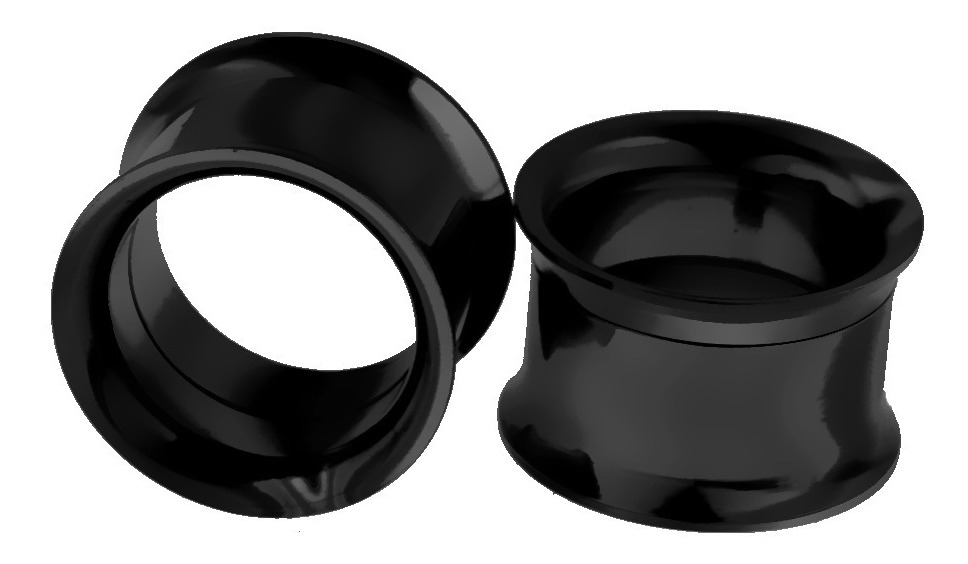 reunirse 46390 d03a2 Aretes Expansores A Rosca Acero Inoxidable Negro 14 Mm