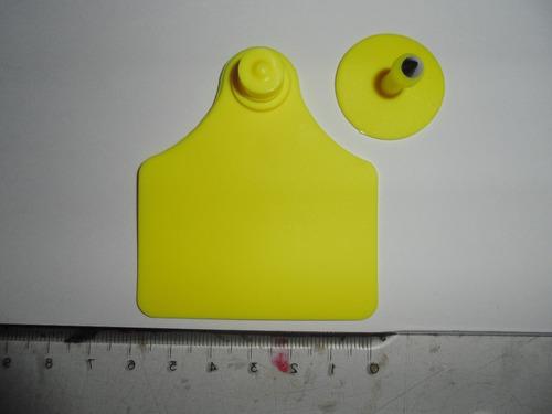 aretes ganado 6 cm x 7 cm importados
