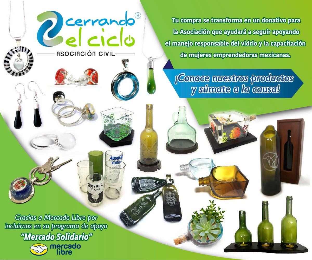 4ccb96bd96cf aretes gotita de vidrio reciclado reciclaje de botella  cc . Cargando zoom.
