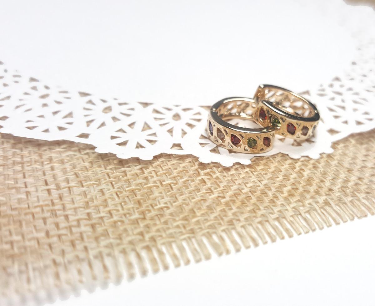 5a357f33ec8b Aretes Huggies. Joyería Oro Laminado Tipo Diamante -   308.00 en ...