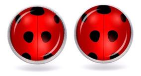 San Francisco 7f127 5fbc5 Aretes Ladybug Miraculous El Mejor Regalo Chapeados En Plata