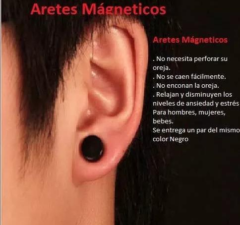 aretes magnéticos, pendiente, piercing, punk, expansor, zarc