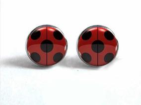 lo último 087da a589a Aretes Miraculous Ladybug. Acero Inoxidable