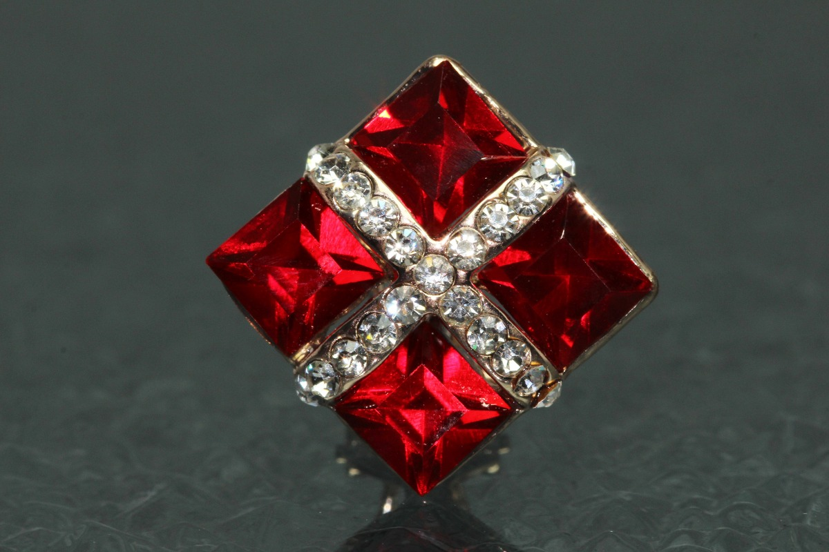 fce74b4593bc aretes moda dama dorado rojo rombo finos cristales ar458. Cargando zoom.