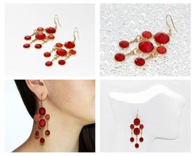 63eaa62e25db Aretes Rojos Mujer - Aretes en Mercado Libre México